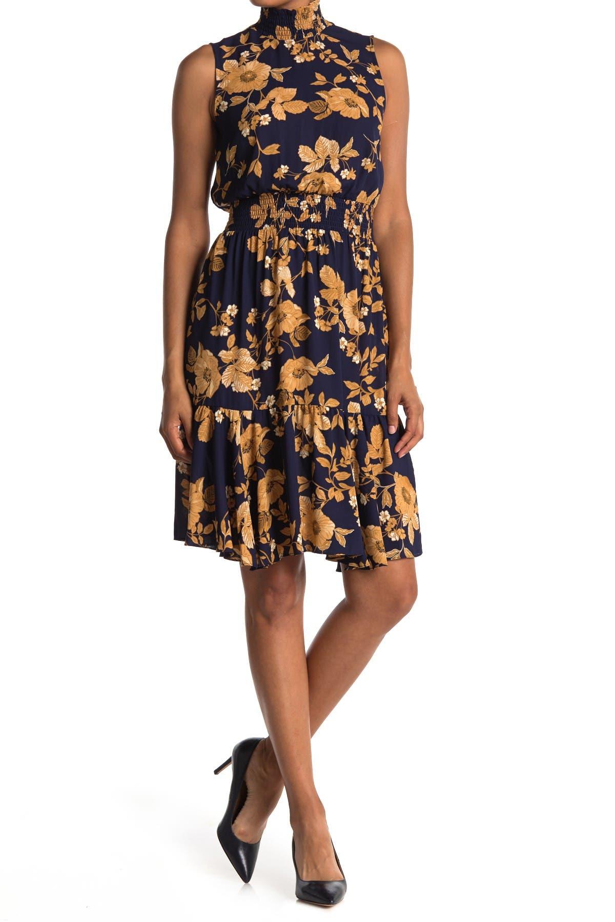 Image of NANETTE nanette lepore Sleeveless Smocked Neck Dress