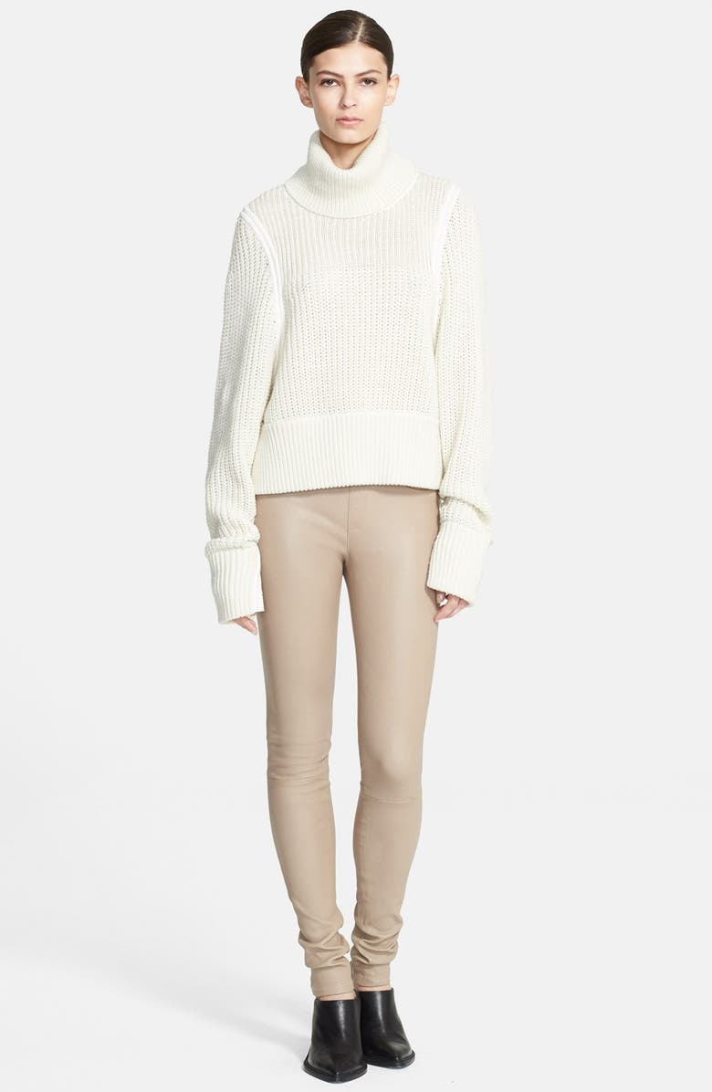 HELMUT LANG Chunky Knit Turtleneck Sweater, Main, color, 101