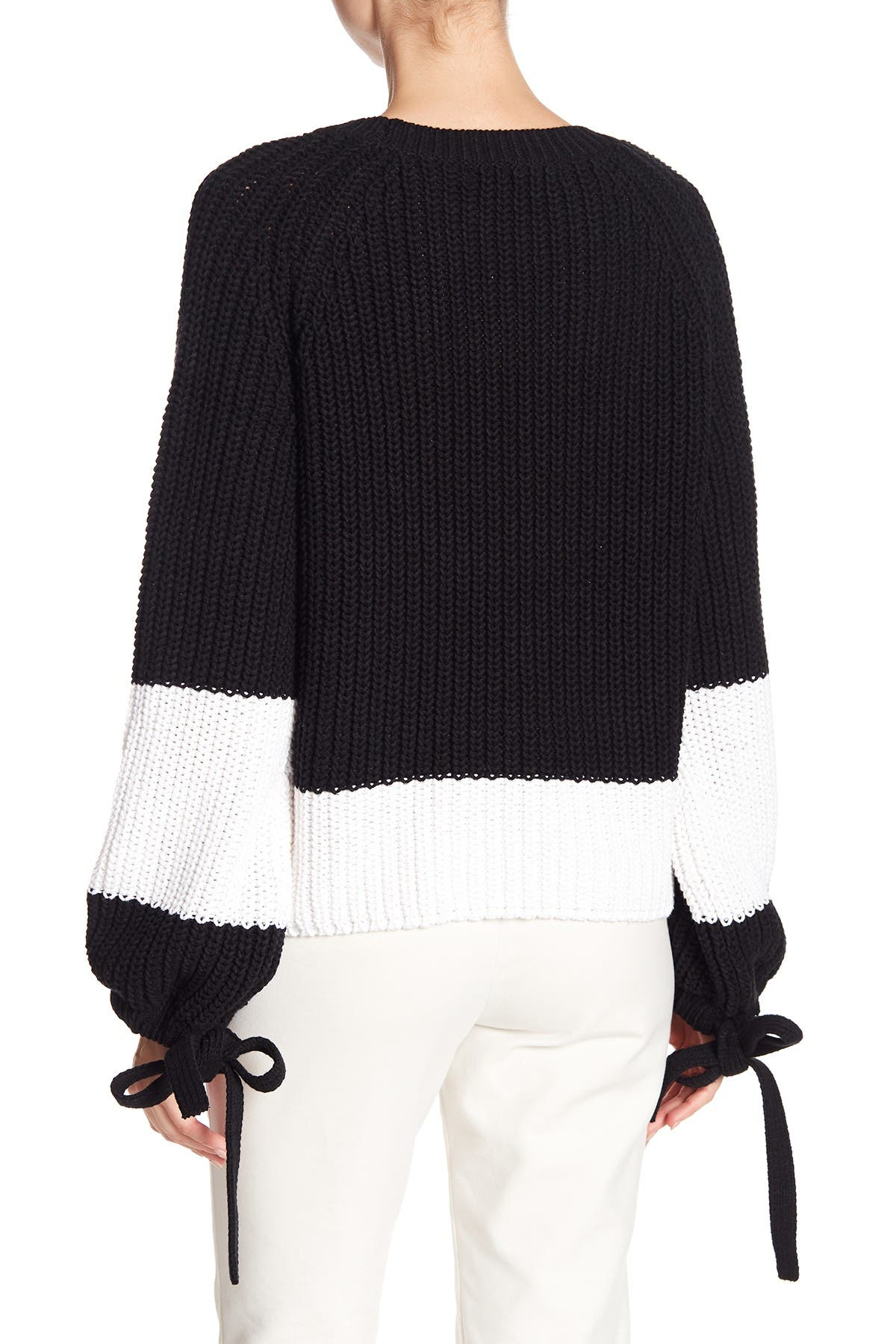 Image of 360 Cashmere Lilah Colorblock Stripe Sweater