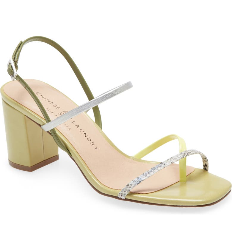 CHINESE LAUNDRY Yanna Strappy Sandal, Main, color, GREEN MULTI FAUX LEATHER