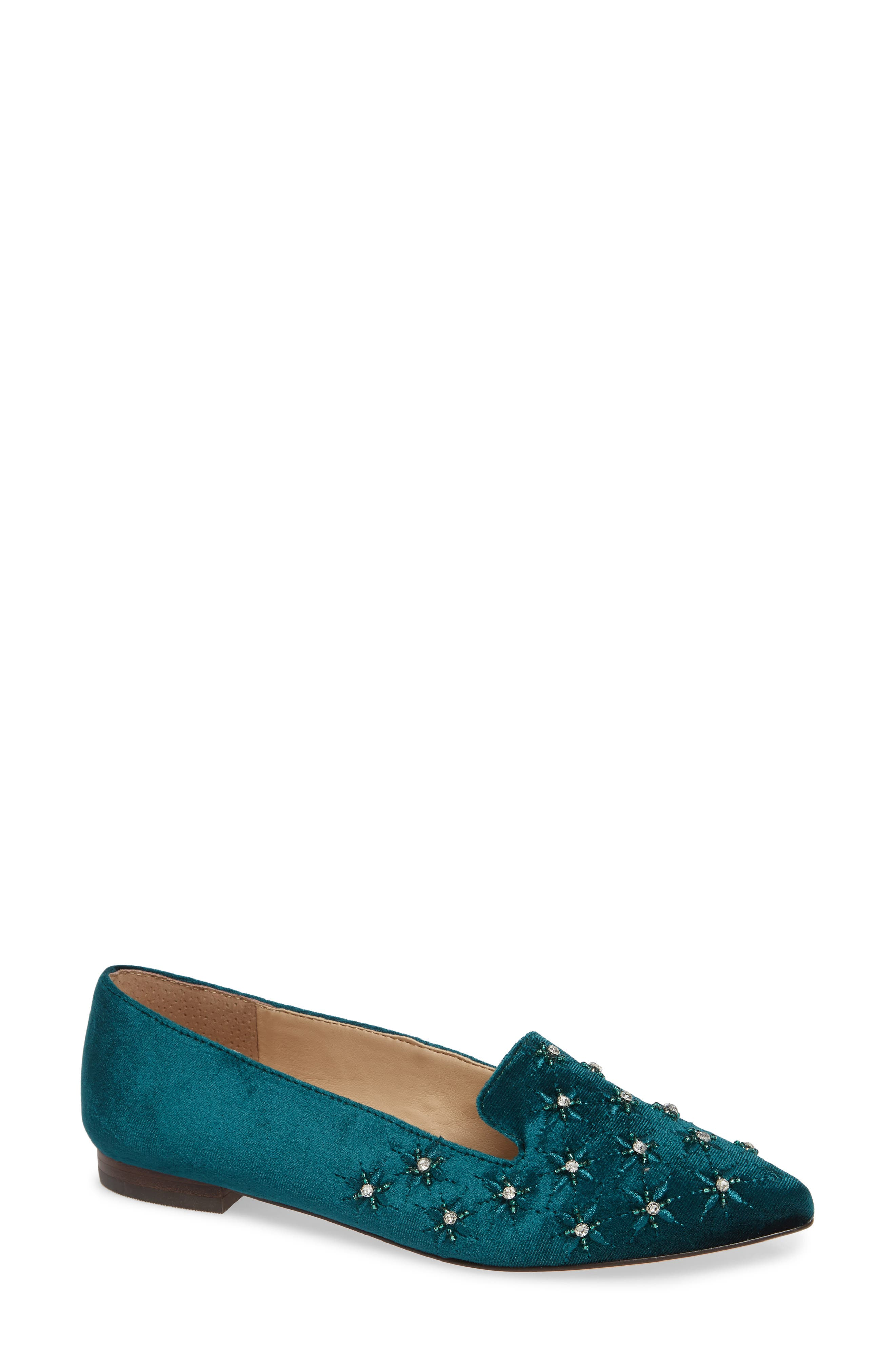 Sole Society Letticah Crystal Embellished Loafer