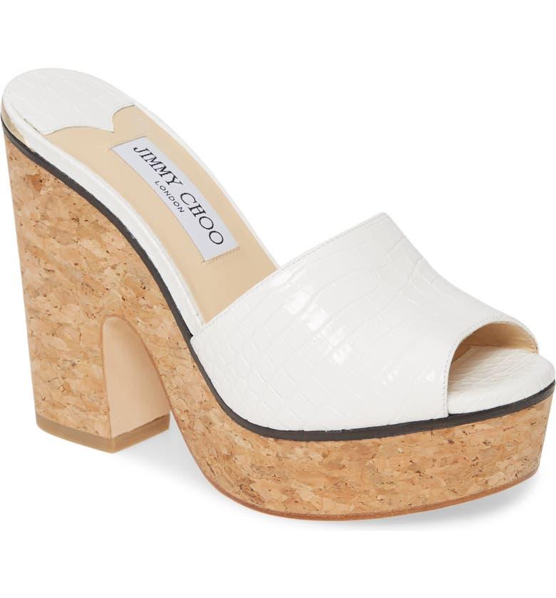 JIMMY CHOO DeeDee Platform Sandal, Main, color, 100