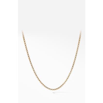 David Yurman Box Chain 18K Gold Necklace, 1.7mm