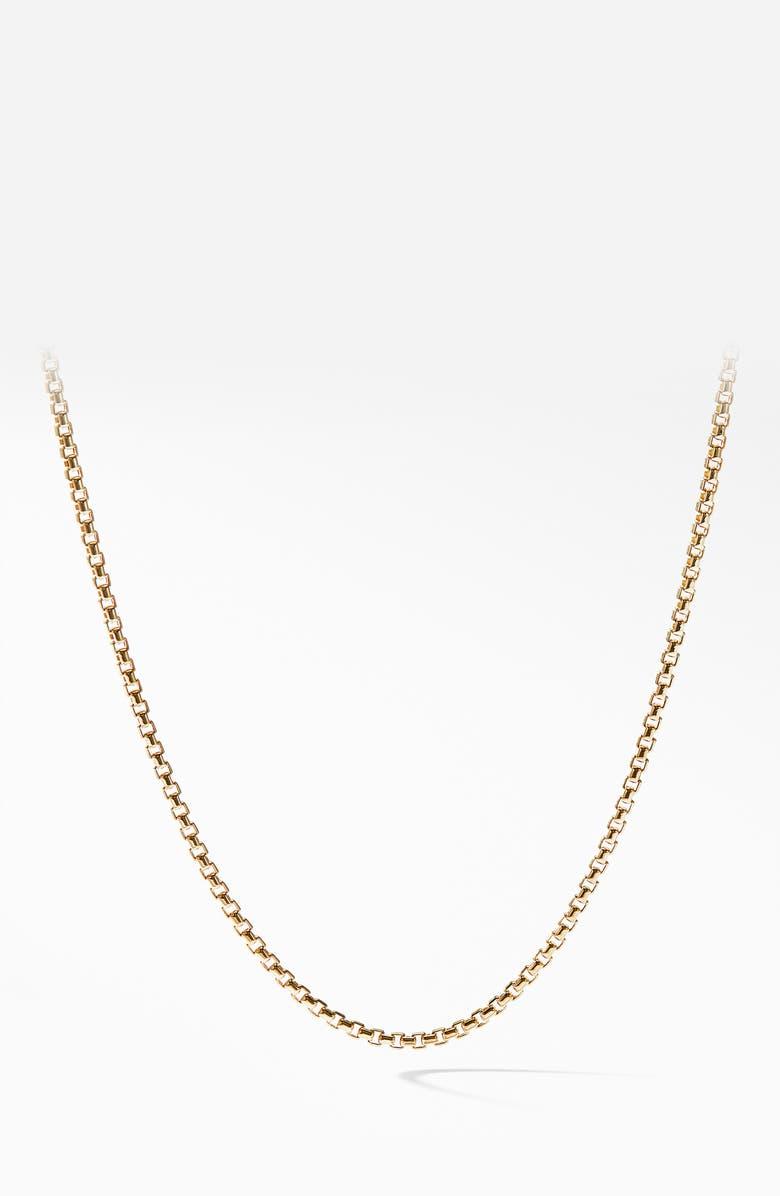 DAVID YURMAN Box Chain 18K Gold Necklace, 1.7mm, Main, color, 710