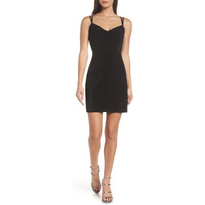 Morgan & Co. Strappy Glitter Knit Dress, Black