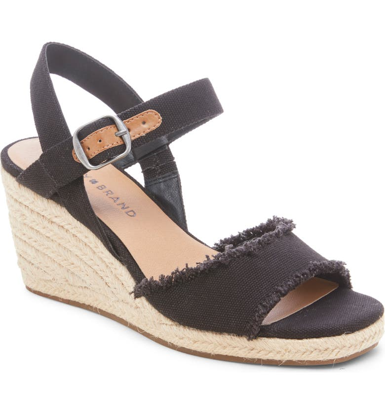 LUCKY BRAND Mindra Espadrille Wedge Sandal, Main, color, 001