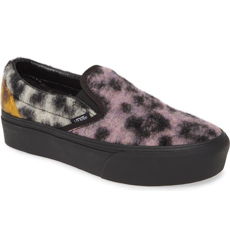 VANS UA Classic Platform Sneaker, Main, color, MIX LEOPARD/ MULTI/ BLACK