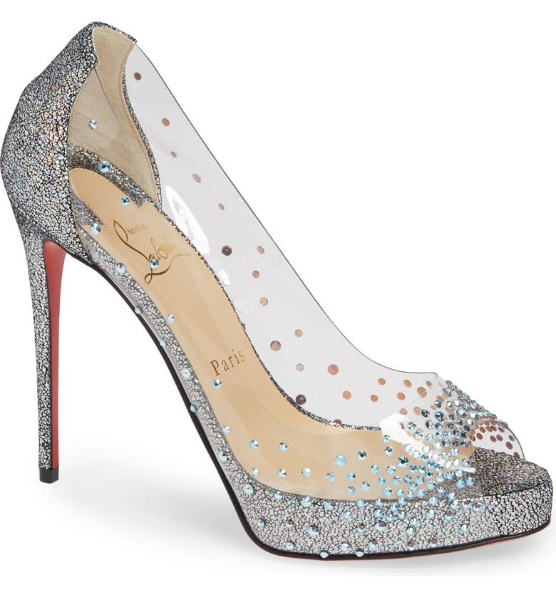 promo code bbbc5 dd6e2 Very Strass Embellished Peep Toe Pump