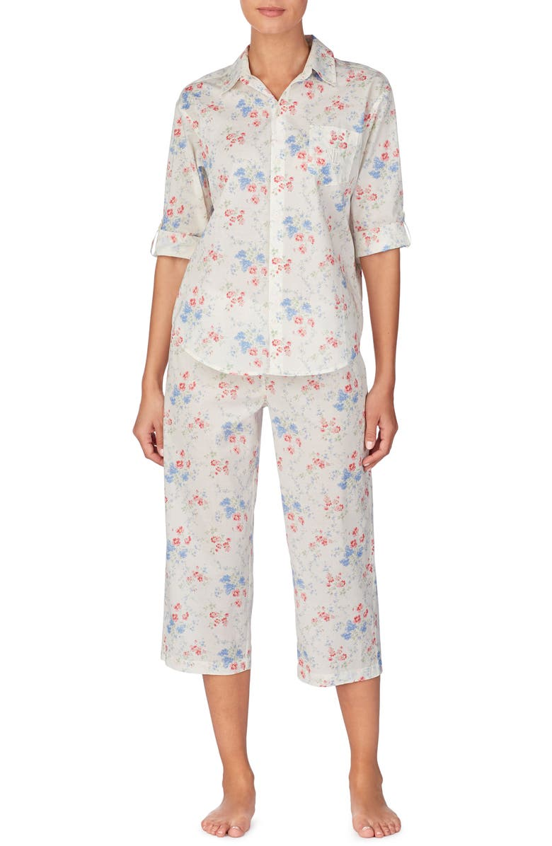 LAUREN RALPH LAUREN Capri Pajamas, Main, color, 900