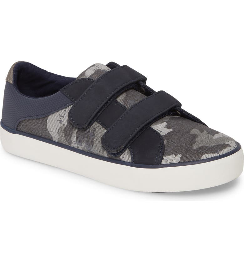 TUCKER + TATE Double Strap Sneaker, Main, color, NAVY MULTI FABRIC