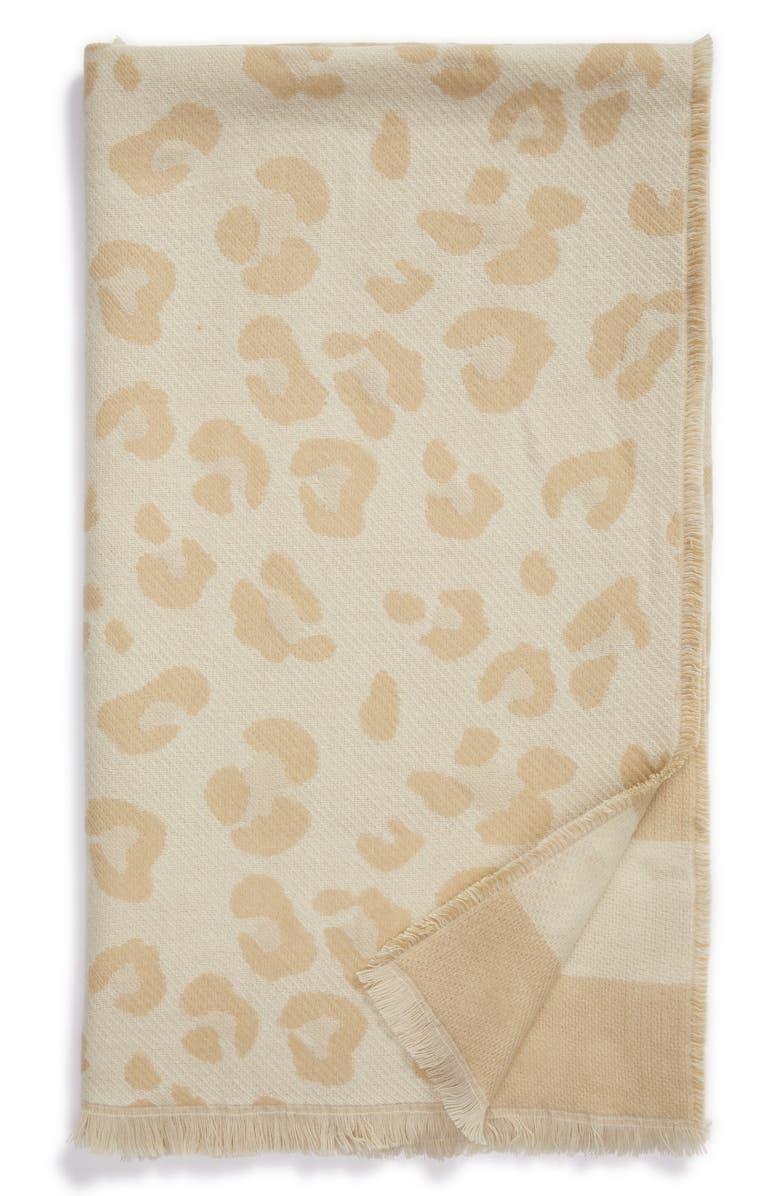 NORDSTROM Reversible Jacquard Throw Blanket, Main, color, 270