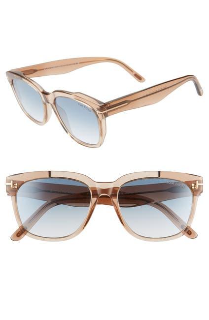 Image of Tom Ford Rhett 55mm Square Sunglasses