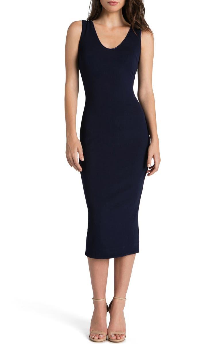 DRESS THE POPULATION Cori Stretch Body-Con Dress, Main, color, 001