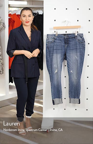 Catherine Raw Hem Boyfriend Jeans, sales video thumbnail