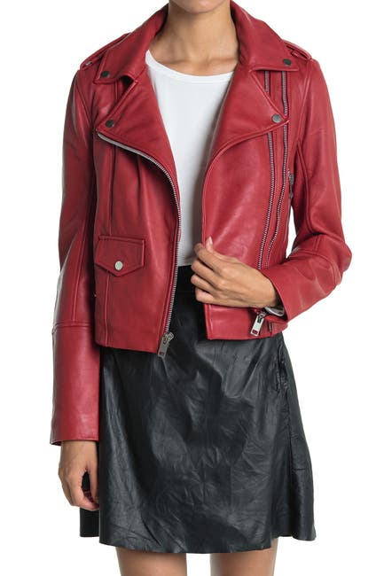 Image of Walter Baker Juls Leather Moto Jacket