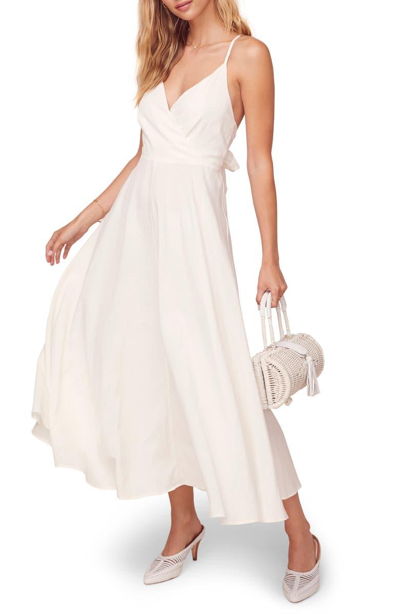 ASTR THE LABEL Ambrosia Midi Dress, Main, color, WHITE