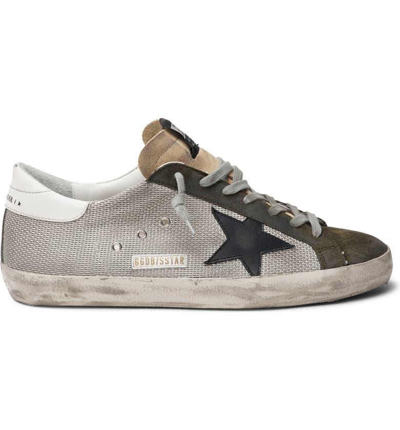 GOLDEN GOOSE Super Star Sneaker, Main, color, SILVER/ GREEN/ BLACK/ WHITE