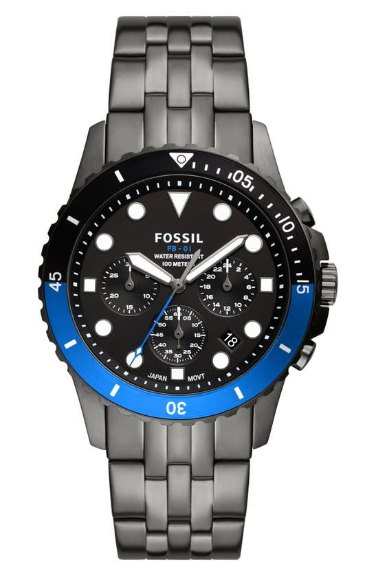 FOSSIL FB-01 CHRONOGRAPH BRACELET WATCH, 42MM