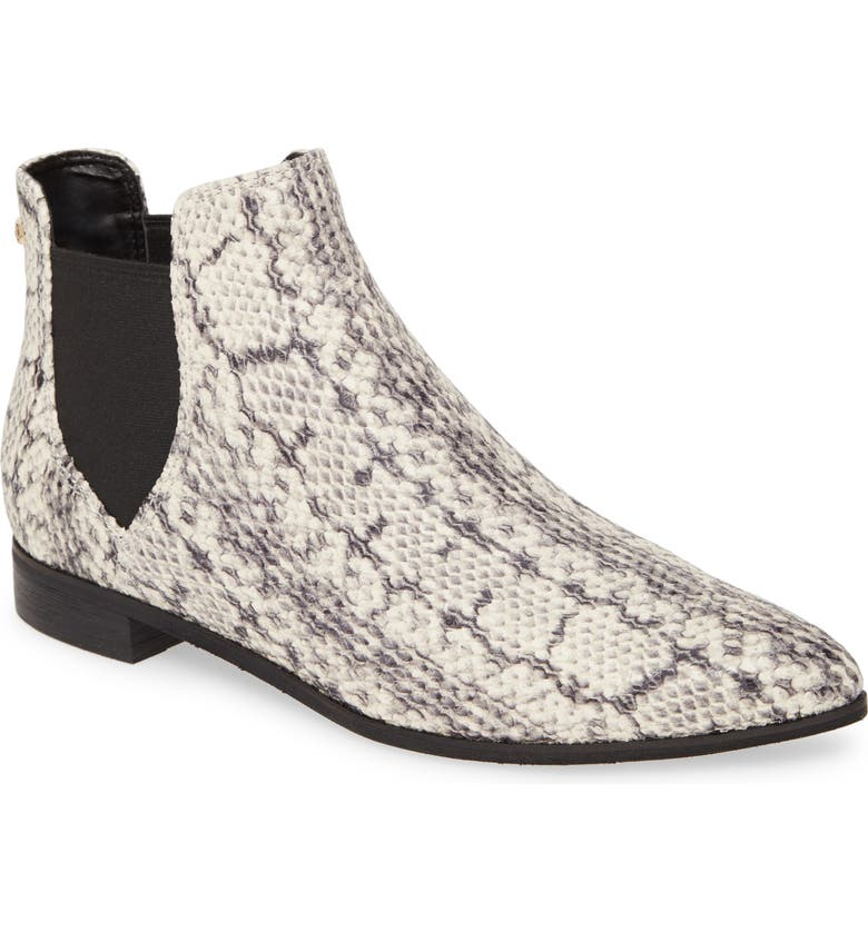 COLE HAAN Hara Chelsea Bootie, Main, color, NATURAL PYTHON PRINT LEATHER