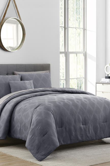 Image of Modern Threads 8-Piece Waffle Jacquard Comforter Set - Harley - Queen