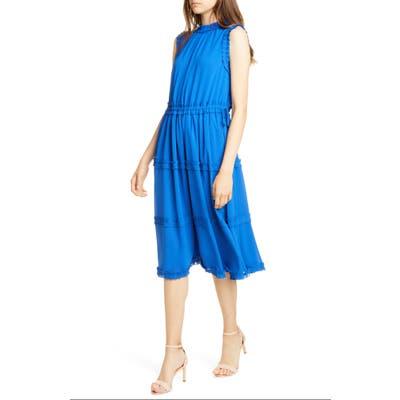 Ted Baker London Sinita Frill Detail Sleeveless Dress, Blue