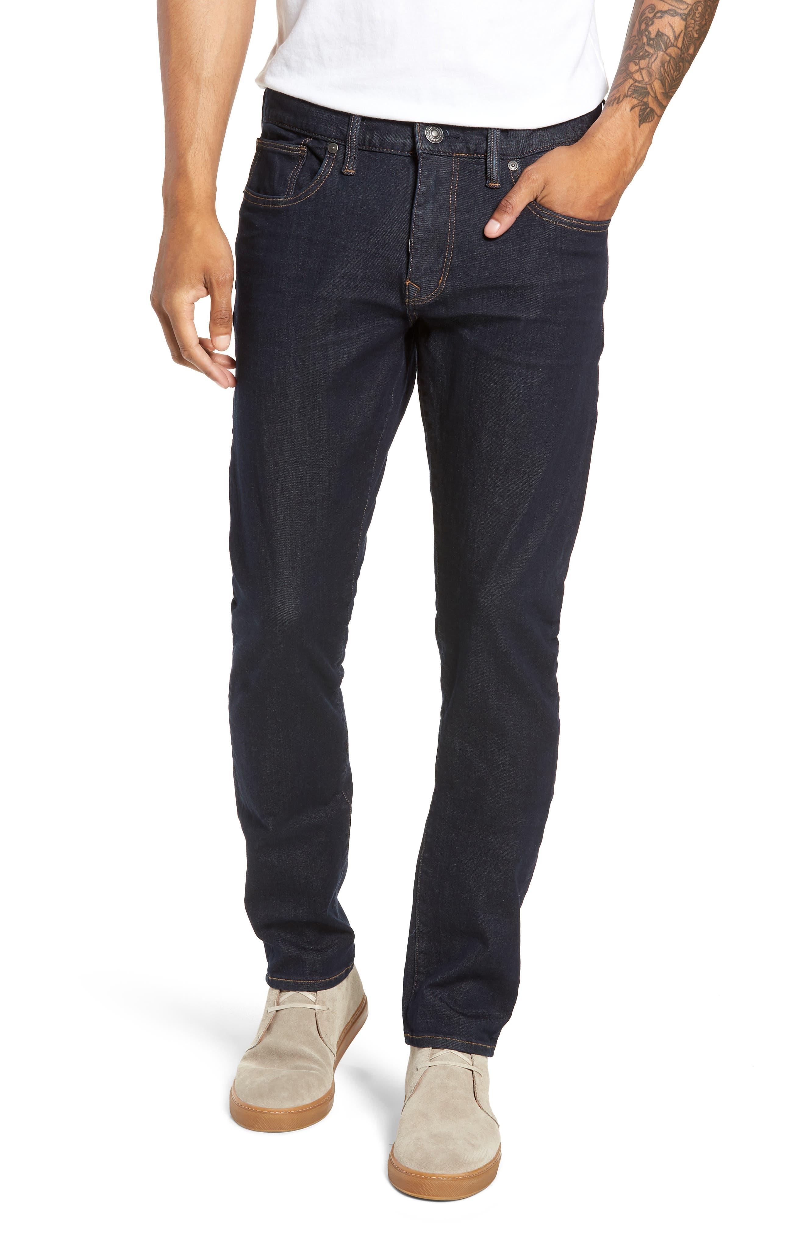 Ashdown Slim Straight Fit Jeans, Main, color, INDIGO