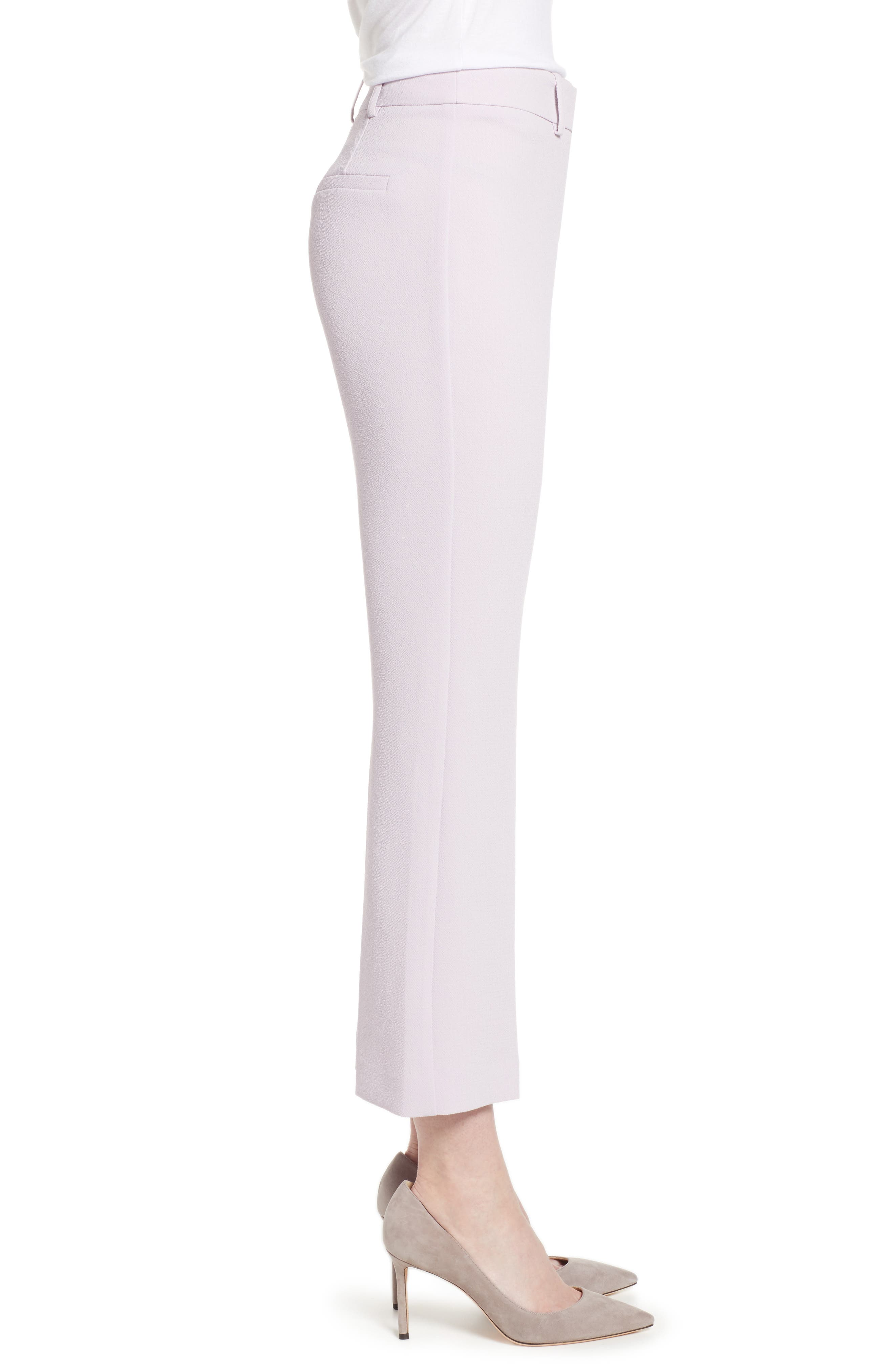 ,                             Crepe Kick Flare Ankle Pants,                             Alternate thumbnail 4, color,                             ORCHID BUD