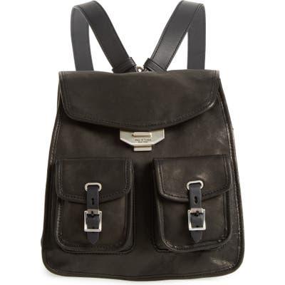 Rag & Bone Small Leather Field Backpack - Black