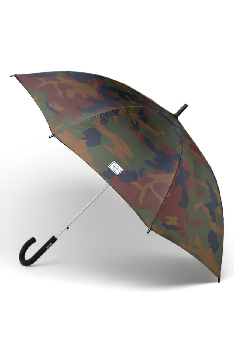 HERSCHEL SUPPLY CO. Single Stage Umbrella, Main, color, WOODLAND CAMO/ DARK OLIVE