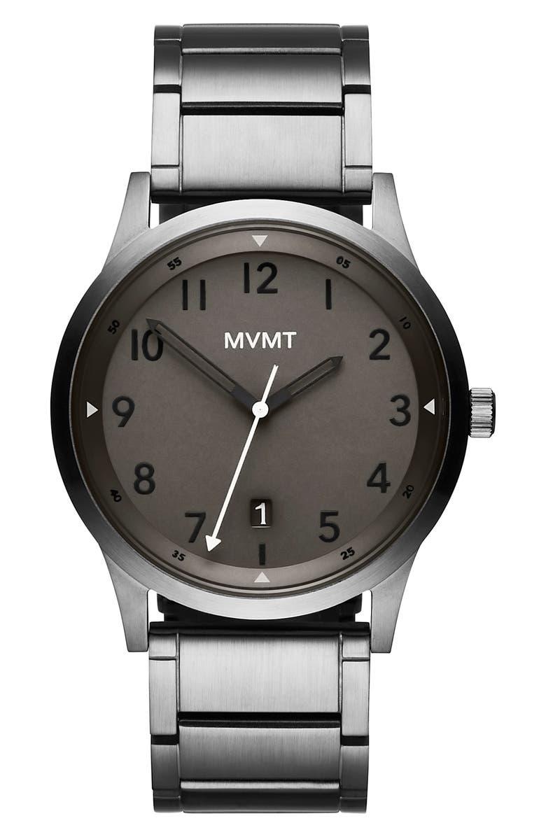 MVMT Field Bracelet Watch, 41mm, Main, color, GUNMETAL