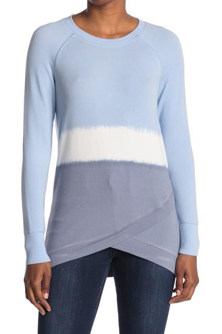 Image of Workshop Cross Over Bottom Tie Dye Long Sleeve Shirt