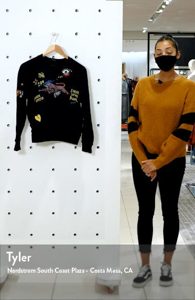 'The Square' Destroyed Graphic Pullover Sweatshirt, sales video thumbnail
