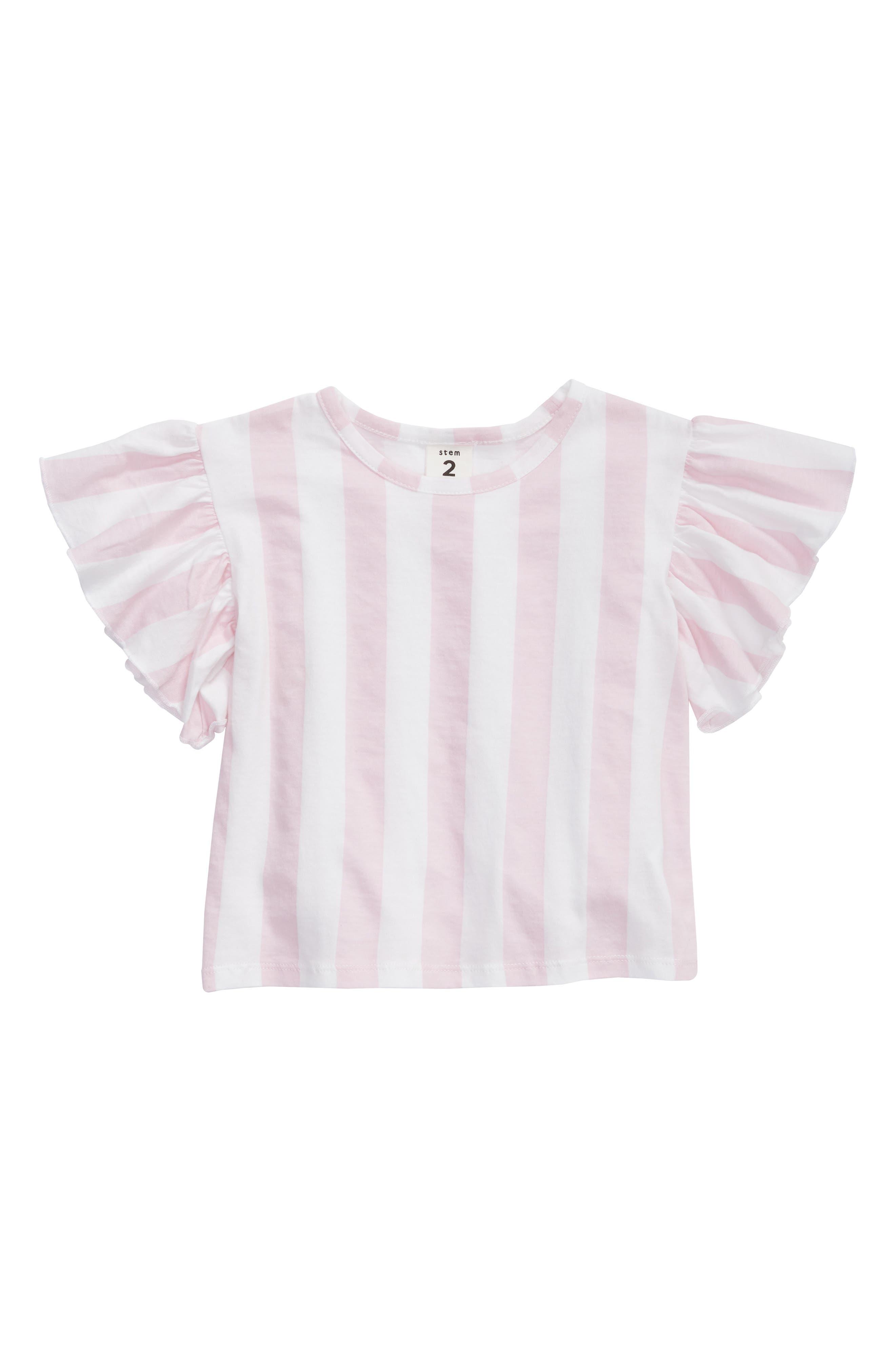 Toddler Girls Stem Soft Ruffle Tee Size 3T  Pink