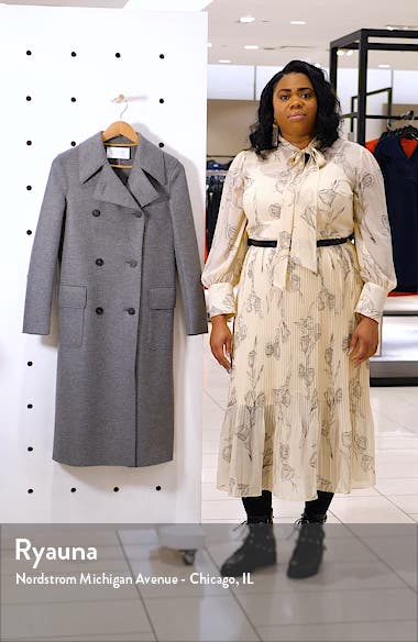 Double Breasted Wool Military Coat, sales video thumbnail