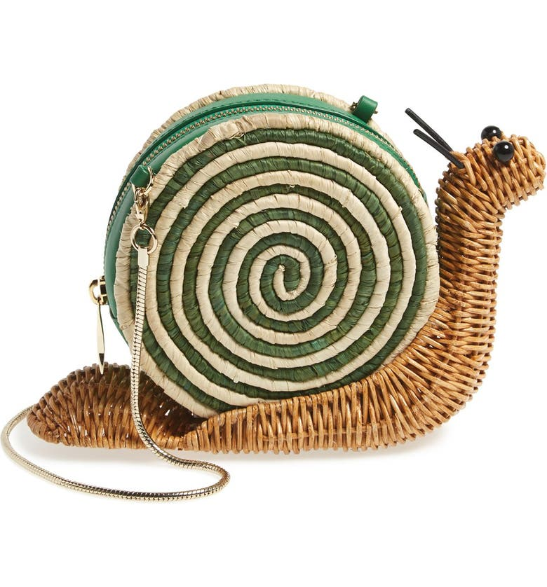 KATE SPADE NEW YORK 'spring forward' wicker snail crossbody bag, Main, color, 255