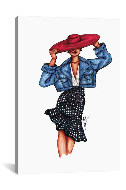 Image of iCanvas Girl in the Red Hat by Brooke Ashley