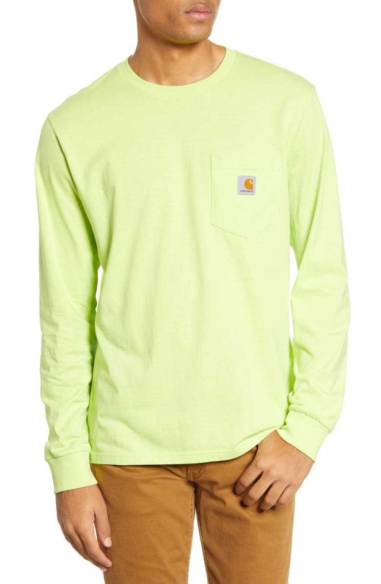CARHARTT WORK IN PROGRESS Pocket T-Shirt, Main, color, LIME