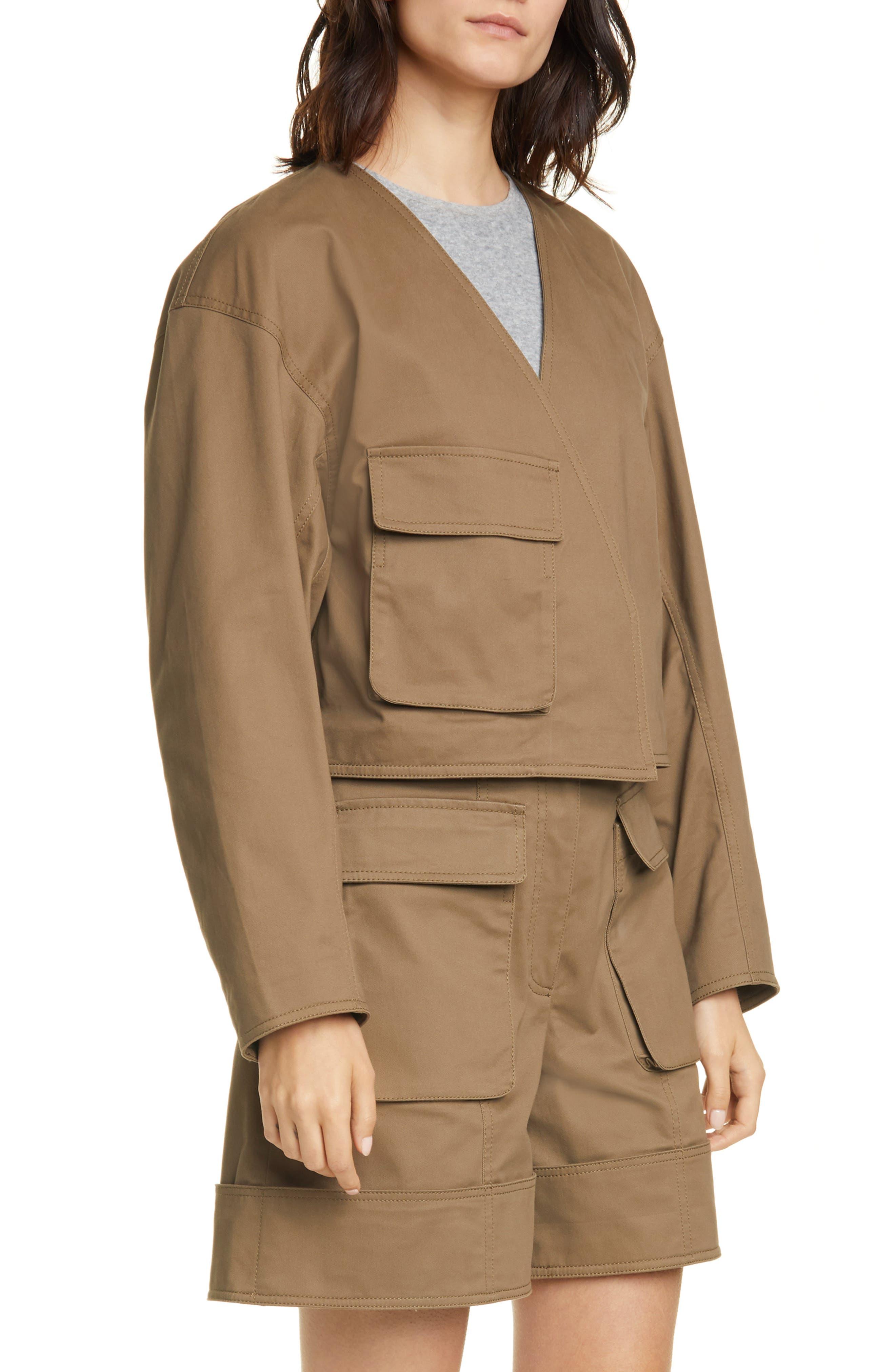 Image of Tibi Myriam Crop Stretch Twill Jacket