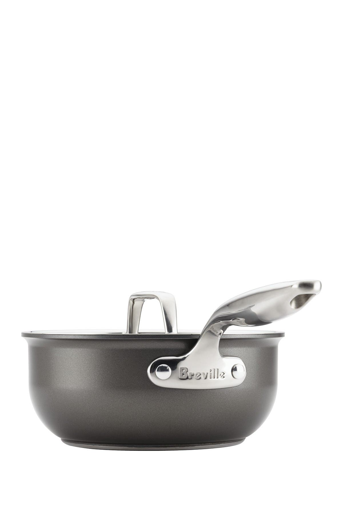 Image of Breville Thermo Pro Hard Anodized  2.5 Quart Covered Saucier