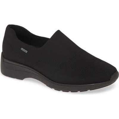 Ara Prue Gore-Tex Waterproof Slip-On Sneaker, Black