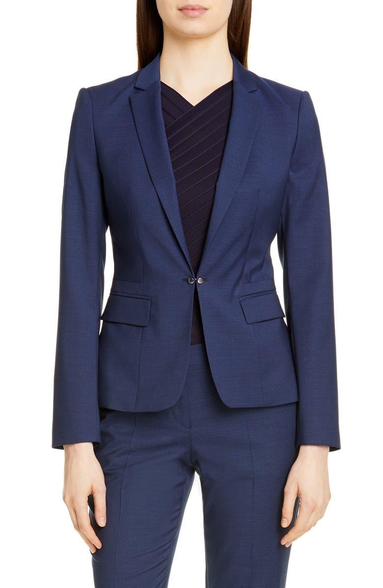 BOSS Jaflink Wool Suit Jacket, Main, color, 400