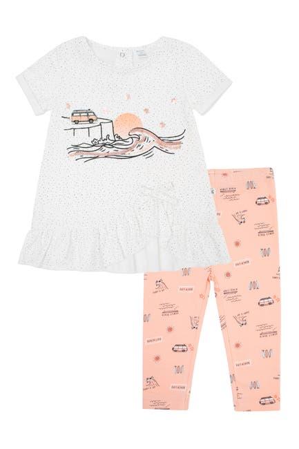 Image of Petit Lem Venice Beach Short Sleeve Dress & Leggings Set