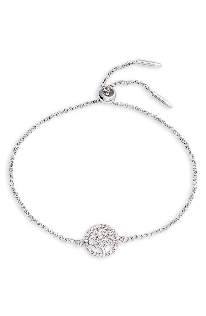 TEN79LA Tree Station Bracelet, Main, color, SILVER