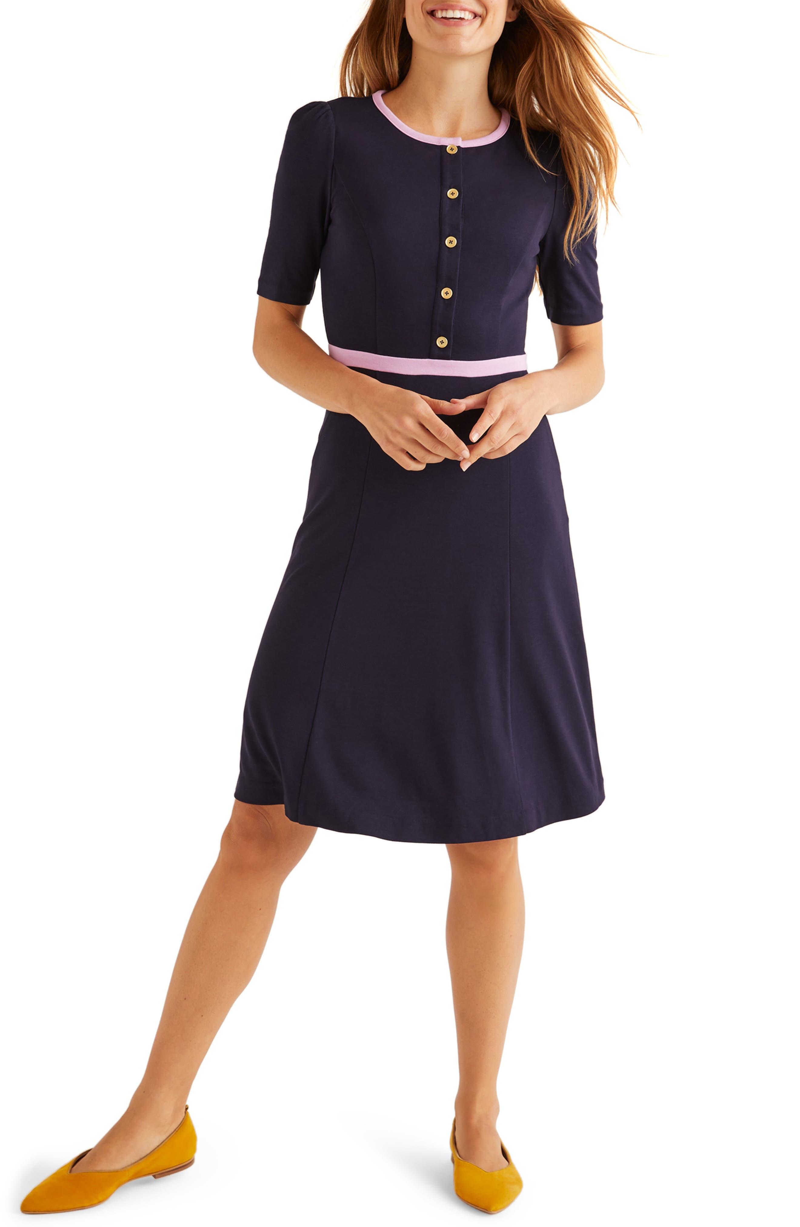500 Vintage Style Dresses for Sale Womens Boden Maria Ponte Dress Size 12 - Blue $120.00 AT vintagedancer.com