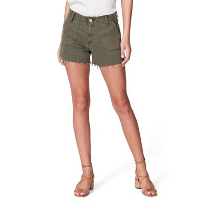 Paige Mayslie Utility Shorts, Green