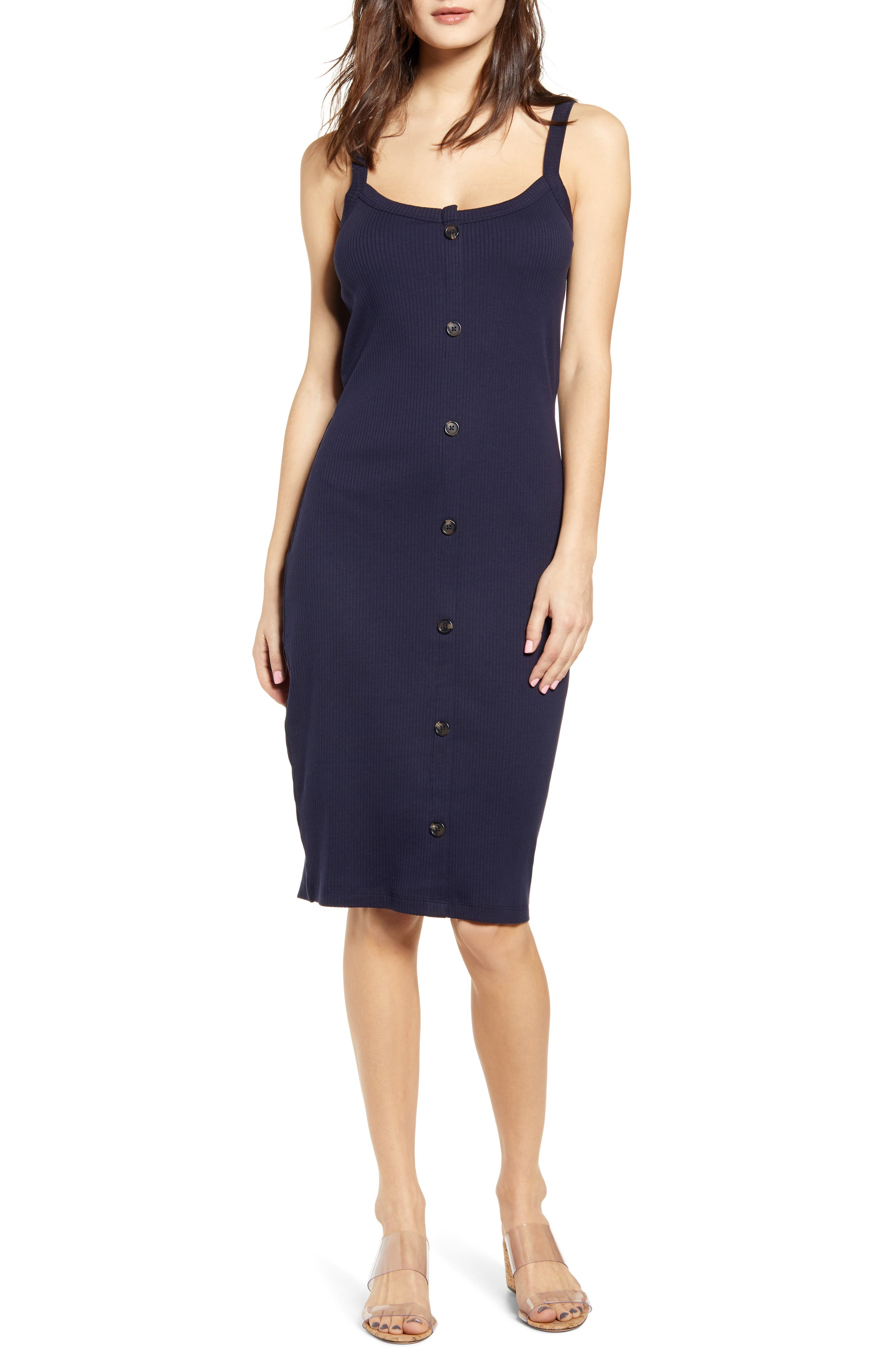 Vero Moda Helsinki Ribbed Dress, Blue