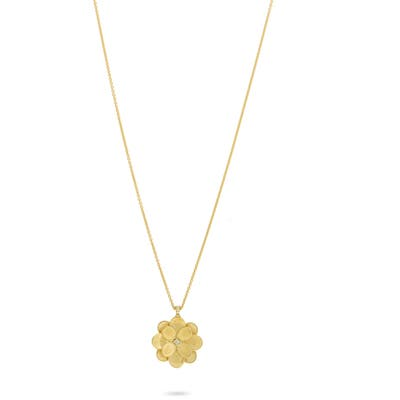 Marco Bicego Petali Medium Diamond Floral Pendant Necklace