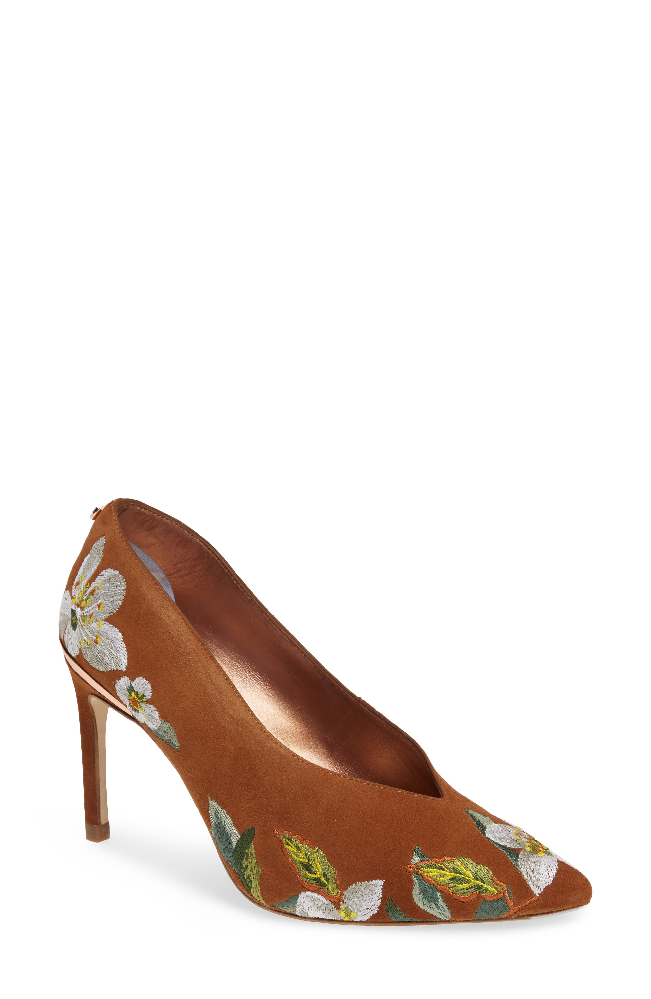 Ted Baker London Jazimin 3 Embroidered Pump - Brown