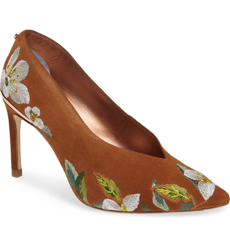 TED BAKER LONDON Jazimin 3 Embroidered Pump, Main, color, 200