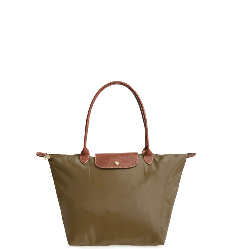 LONGCHAMP Large Le Pliage Tote, Main, color, NEW KHAKI